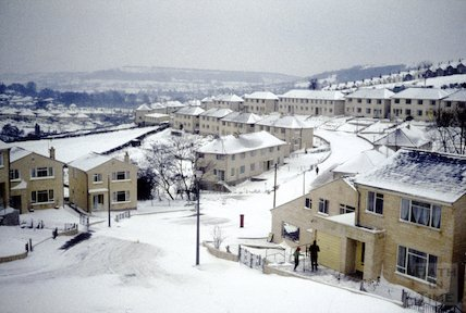 Fairfield Park, Larkhall, Bath in the snow, 1963