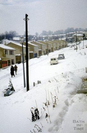 Fairfield Park, Larkhall, Bath in the snow, 1963