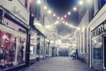 Northumberland Place with Christmas Lights, c.1960s