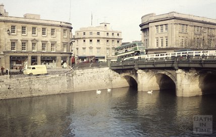 J Bladwell & Co and the Old Bridge, Bath, c.1960s
