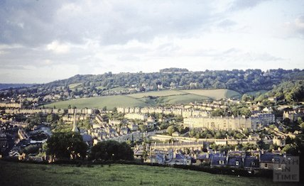 View of Widcombe Crescent from Alexandra Park, c.1960s
