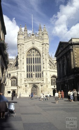 The West Front of Bath Abbey from Abbey Church Yard, c.1959