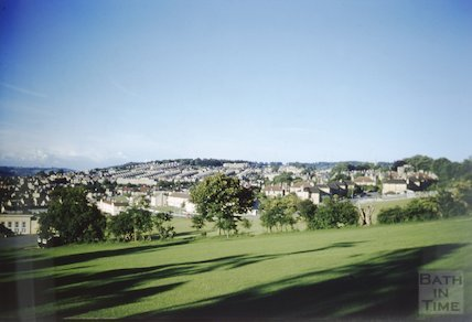 View towards Bear Flat, Bath from Englishcombe Lane, c.1960s