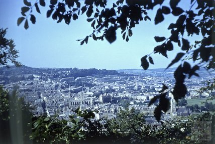 General view of Bath from Beechen Cliff, c.1960s