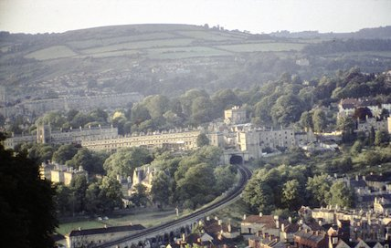 View from Beechen Cliff towards Bathwick, c.1960