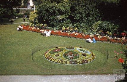 Bath in Bloom display, Parade Gardens, c.1970s