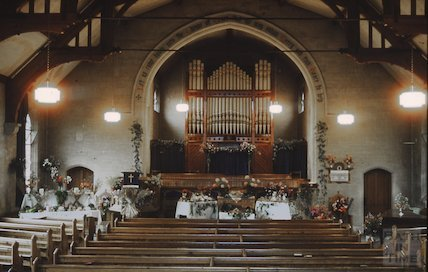 Interior of Beechen Cliff Church, c.1960s