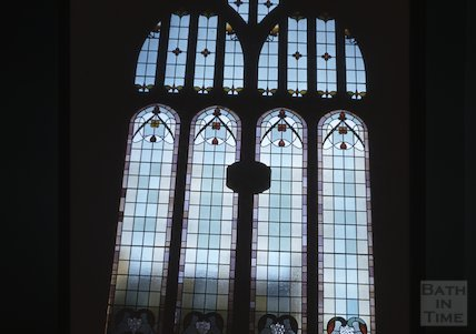 Stained Glass Window in Beechen Cliff Church, c.1960s
