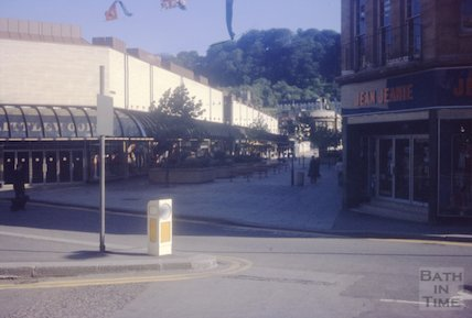 The Jean Jeanie shop on the corner of Southgate Street and Lower Borough Walls, Bath, c.1970s