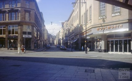 Woolworths and John Collier, Stall Street, Bath, c.1970s