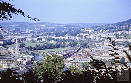 View of Bath from Beechen Cliff, c.1970s