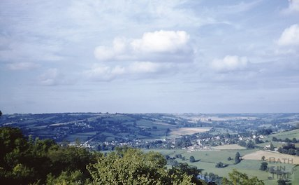 View over the River Avon showing Bathford and looking towards Bannerdown Common, c.1970s