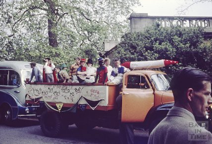 Bath Carnival procession, Royal Victoria park, c.1970s