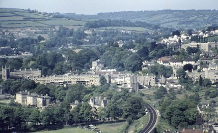 Bath from Beechen Cliff, 24 May 1959