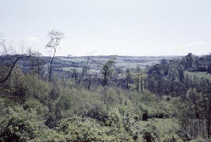 View from Summer Lane, Combe Down towards Midford, 30 April 1959