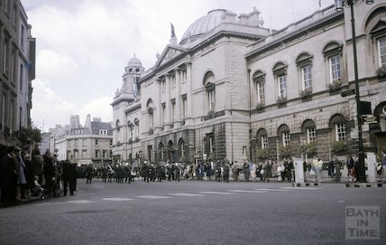 Armed forces parade, High Street, Bath, c.1960s