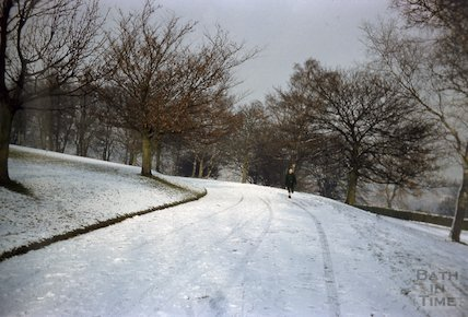 The Avenue in Alexandra Park in snow, 1962