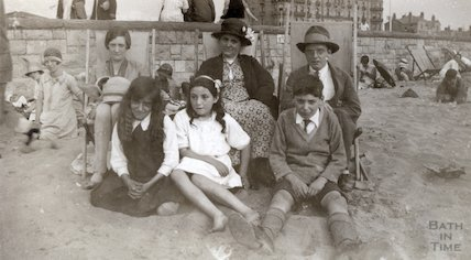 On the beach at Weston Super Mare, c.1920s