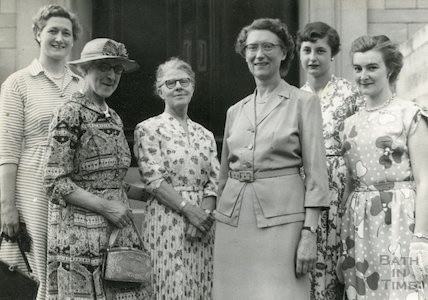 City of Bath Girls School, Miss Thatcher's Retirement, c.1950s?