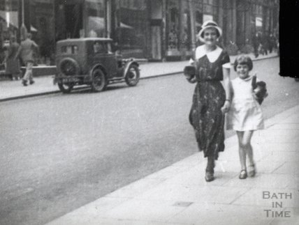 Walking down Milsom Street, c.1920s