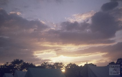 A beautiful sunset over scout camp, c.1960s