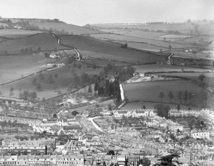 View of Lambridge from the Warminster Road c.1904 - detail