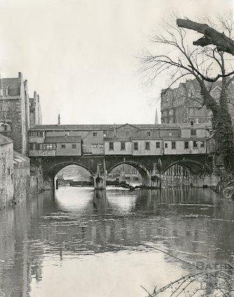 Rear of Pulteney Bridge, Bath, 11 May 1970