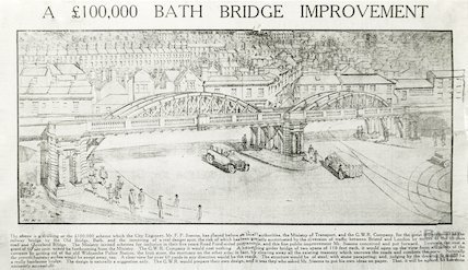 Proposed bridge improvement in Bath, c.1930s