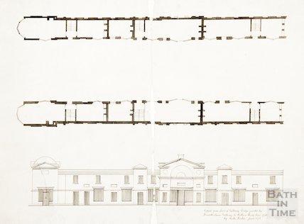Elevation and Plan of Pulteney Bridge 1873