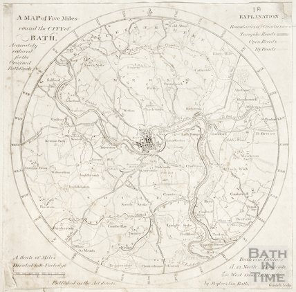 A map of Five Miles round the City of Bath c.1840