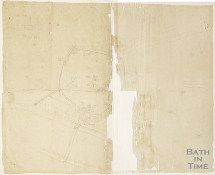 Pencil tracing of Plan De Bathe c.1650?