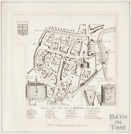 Ancient Plan of the City of Bath, from Guidot 1610