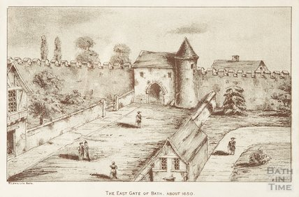 The East Gate of Bath. About 1650
