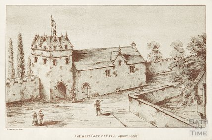 The West Gate of Bath. About 1650
