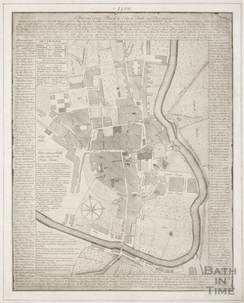 1750 A New and Correct Plan of the City of Bath and place adjacent