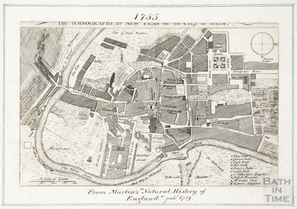 The Iconography or New Plan of the City of Bath 1755