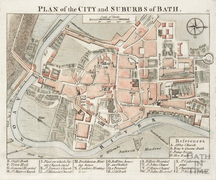 Plan of the City and Suburbs of Bath 1760