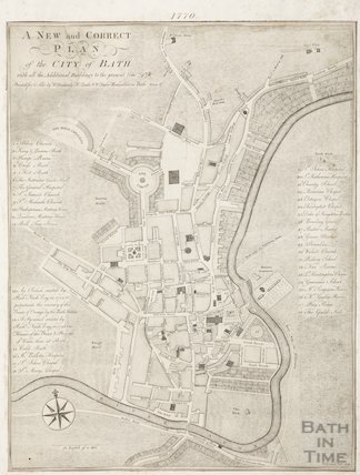 1770 A New and Correct Plan of the City of Bath