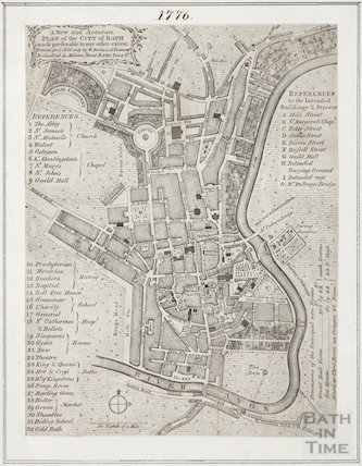A New and Accurate Plan of the City of Bath 1776