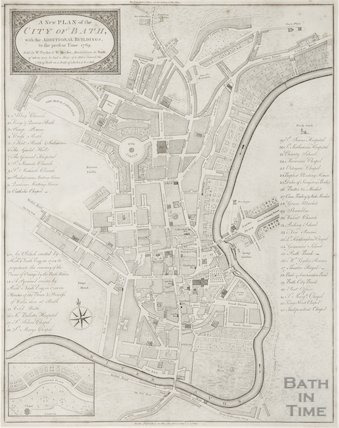 1789 A New Plan of the City of Bath, with the additional buildings to the present time
