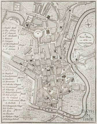 A New Plan of the City of Bath 1790