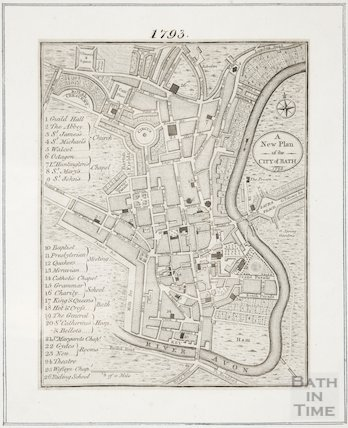 A New and Plan of the City of Bath 1793