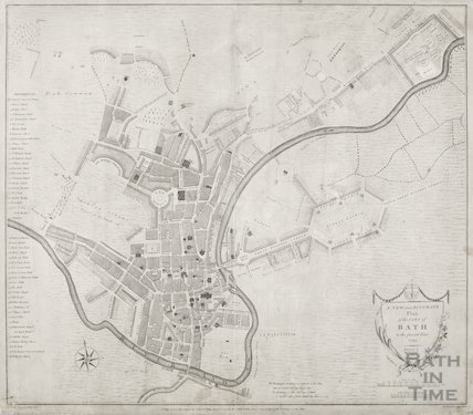 1793 A New and Accurate Plan of the City of Bath to the present year