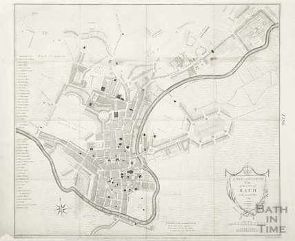 A New and Accurate Plan of the City of Bath to the present year 1796