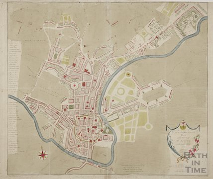 A New and Accurate Plan of the City of Bath to the present year 1797