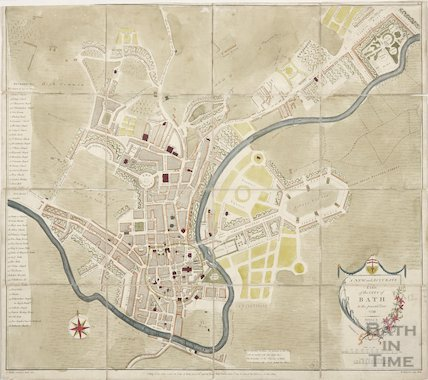 A New and Accurate Plan of the City of Bath to the present year 1798