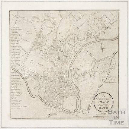 A New & Correct Plan of the City of Bath 1801