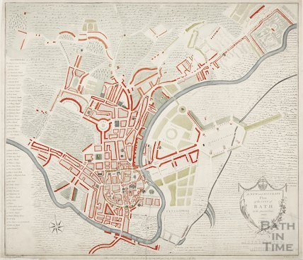 A New and Accurate Plan of the City of Bath to the present year 1805