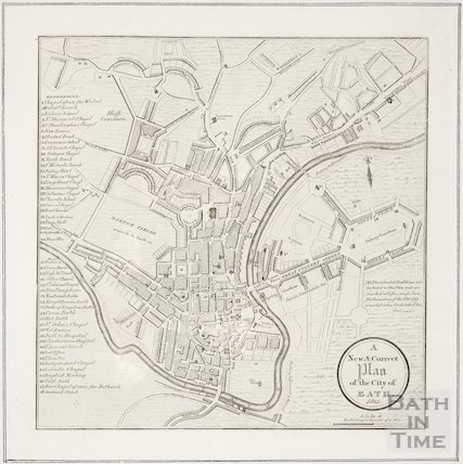 A New and Correct Plan of the City of Bath 1815