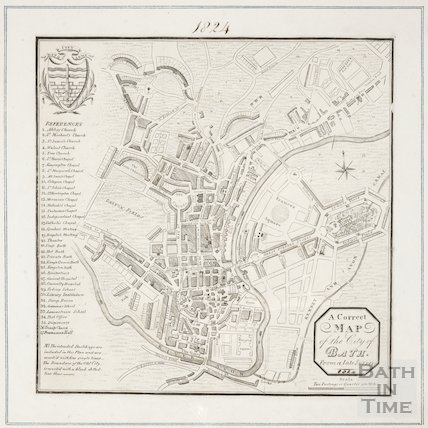 A new and correct plan of the city of Bath reduced from a recent survey 1824